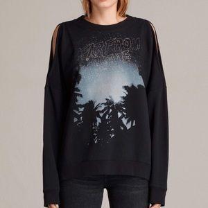All Saints cold shoulder sweatshirt XS